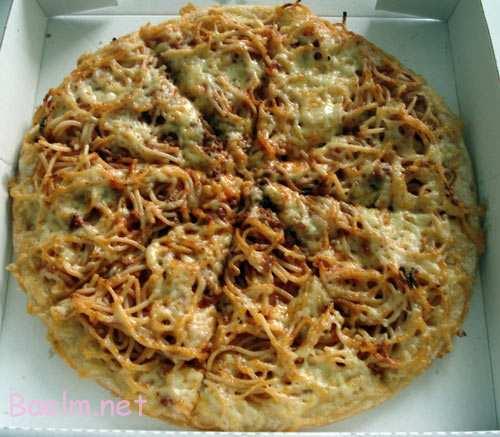 طرز تهیه پیتزا پاستا,نحوه پخت پیتزا با پاستا