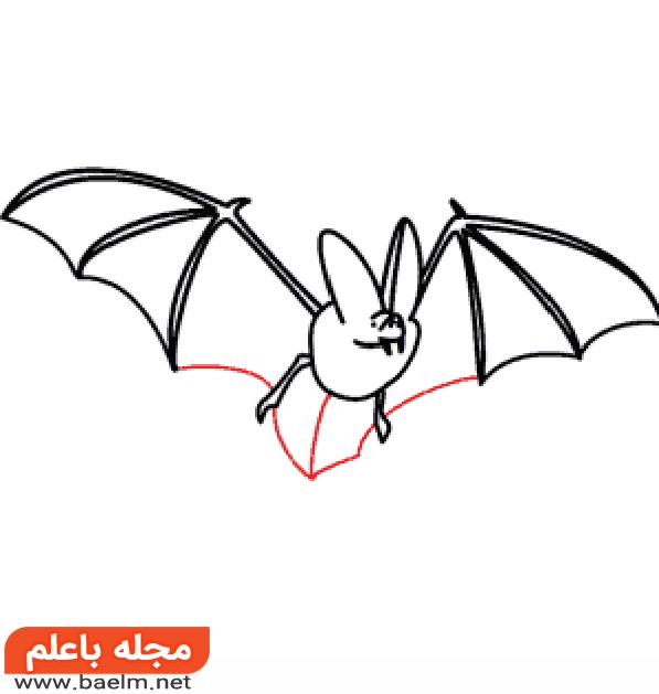 نقاشی کودکانه,آموزش نقاشی خفاش برای کودکان,نقاشی خفاش5