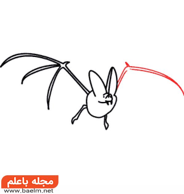 نقاشی کودکانه,آموزش نقاشی خفاش برای کودکان,نقاشی خفاش1