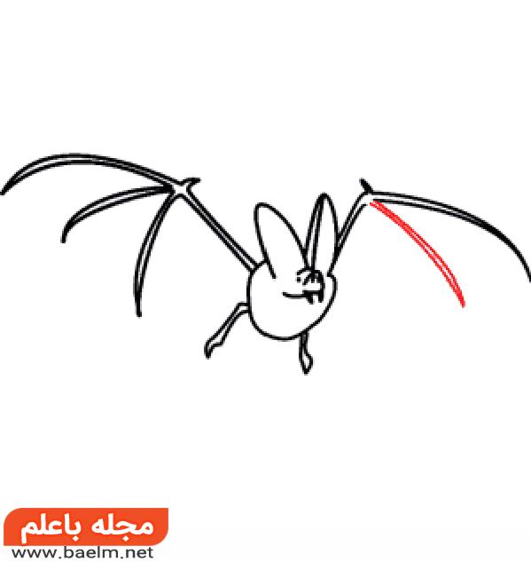 نقاشی کودکانه,آموزش نقاشی خفاش برای کودکان,نقاشی خفاش2