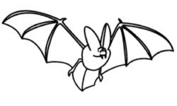 آموزش نقاشی خفاش,کشیدن نقاشی خفاش بسیار ساده