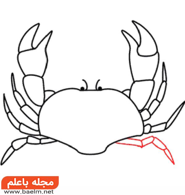 آموزش نقاشی خرچنگ,آموزش گام به گام نقاشی خرچنگ10