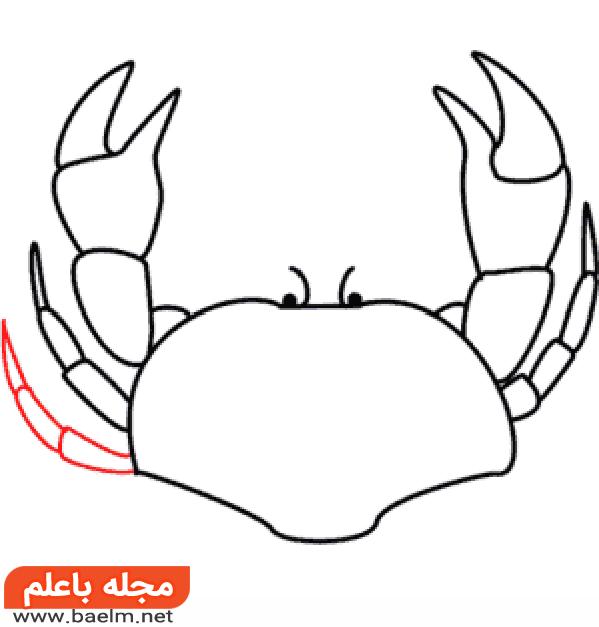 آموزش نقاشی خرچنگ,آموزش گام به گام نقاشی خرچنگ7