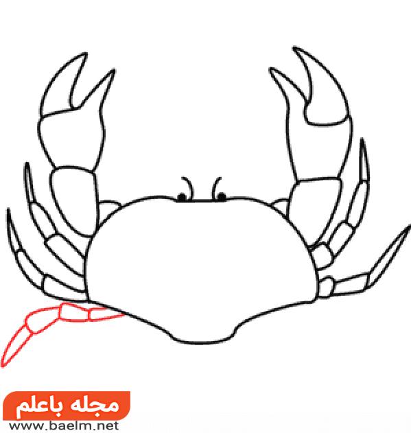 آموزش نقاشی خرچنگ,آموزش گام به گام نقاشی خرچنگ9