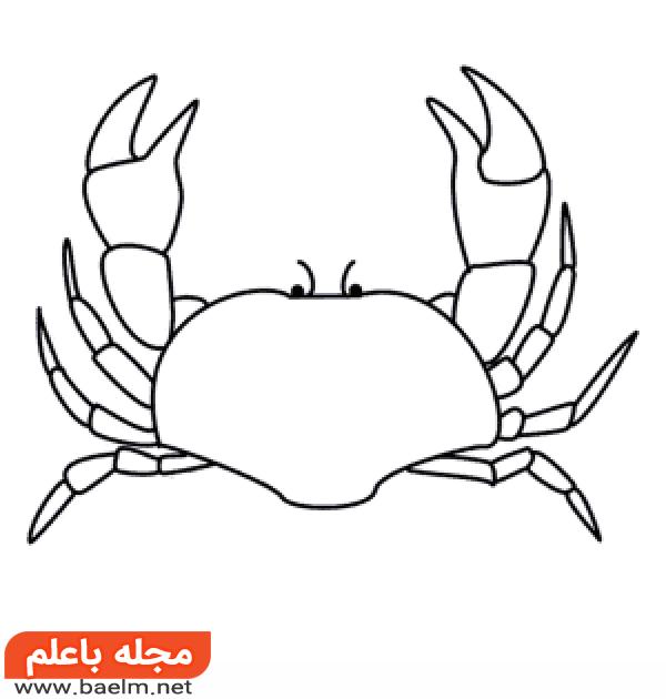 آموزش کشیدن نقاشی خرچنگ,آموزش گام به گام نقاشی خرچنگ