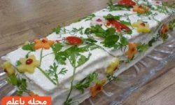 سالاد پنیر قالبی   طرز تهیه سالاد قالبی   سالاد پنیر