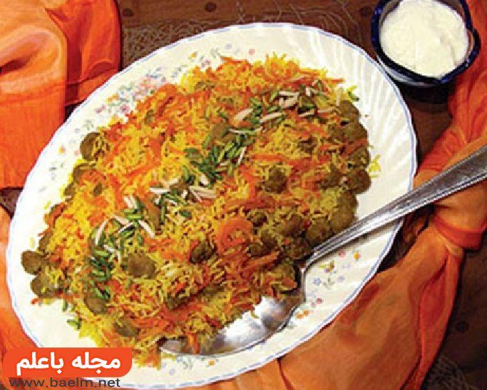 ساطری پلو,طرز تهیه غذای محلی خراسان ساطری پلو