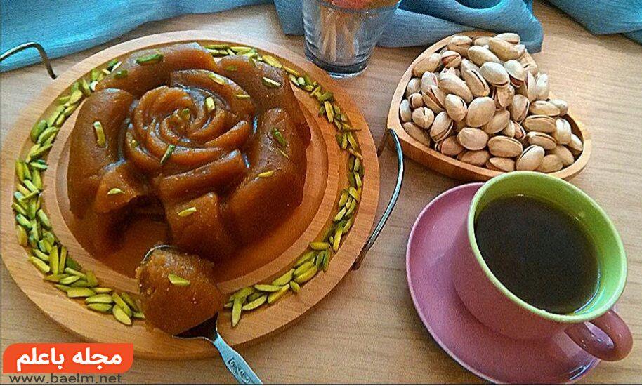 طرز تهیه حلوای سنتی با شیره انگور,حلوا شیره انگور مجلسی,حلوای مجلسی باشیره انگور