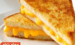 """طرز تهیه """"اسنک نان تست با پنیر"""" درست کردن نان پنیری بسیار خوشمزه"""