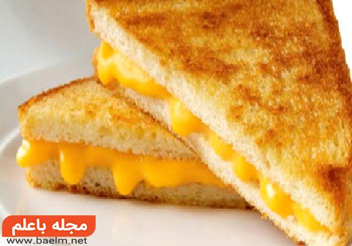 طرز تهیه اسنک نان تست با پنیر,نان تست پنیری,پنیر با نان تست