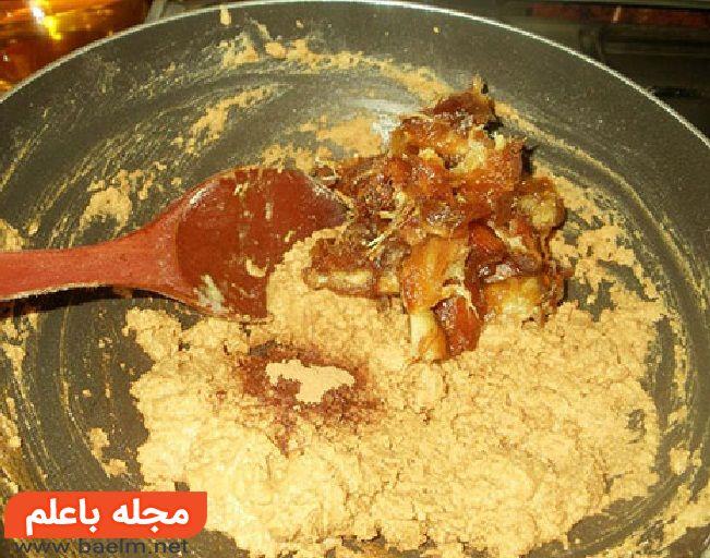 خرما بریز دسر مقوی برای ماه رمضان,طرز تهیه دسر خرما بریز