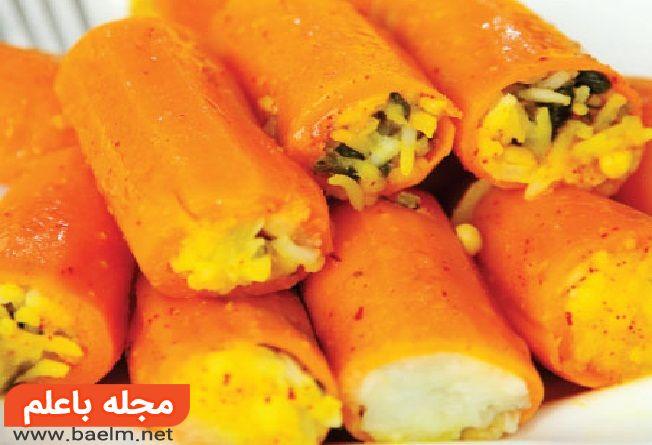 شیوه پخت دلمه هویج,نکاتی برای تهیه دلمه هویج
