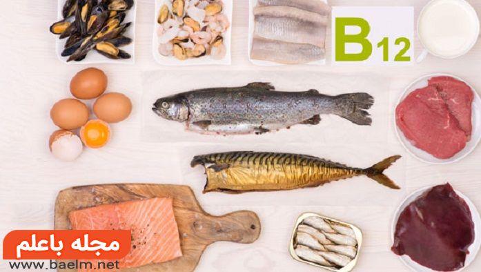 منابع سرشار از ویتامین ب 12,منابع ویتامین b12,مکمل ویتامین B12