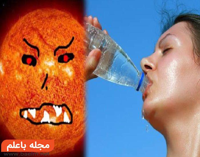 پیشگیری از گرمازدگی,نوشیدنی برای رفع گرمازدگی,درمان گرمازدگی