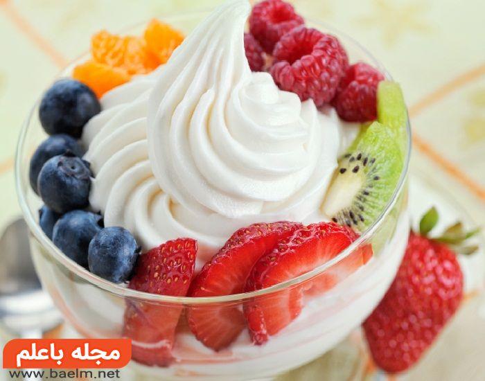 ماست بستنی میوه ای,طرز تهیه ماست بستنی خانگی,درست کردن ماست بستنی