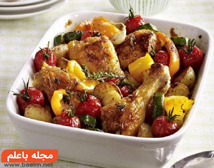 درست کردن ران مرغ با سبزیجات,طرز تهیه ران مرغ با سبزیحات