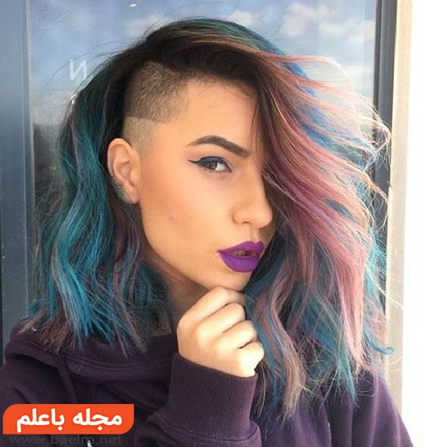 مدل مو و رنگ مو زنانه دخترانه و زنانه,جدیدترین مدل مو و رنگ مو فانتزی و فشن