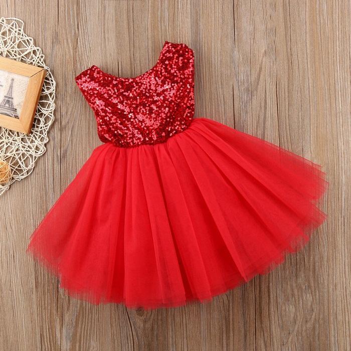 مدل لباس بچه گانه,مدل لباس عروس قرمز دخترانه بچگانه, مدل لباس عروس بچگانه توری