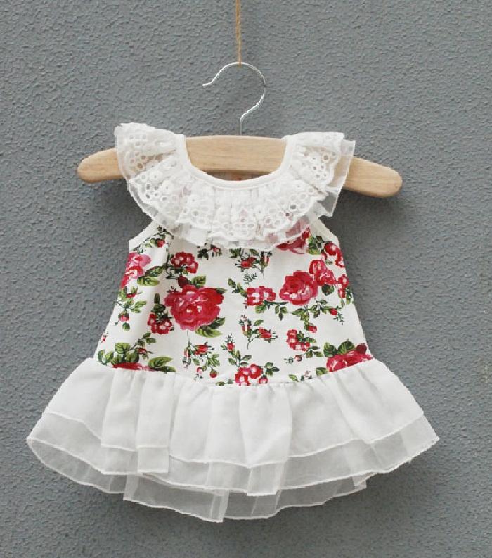 مدل لباس حریر و گیپور بچه گانه دخترانه مجلسی,مدل لباس حریر بچه گانه گلدار و سفید برای مهمانی