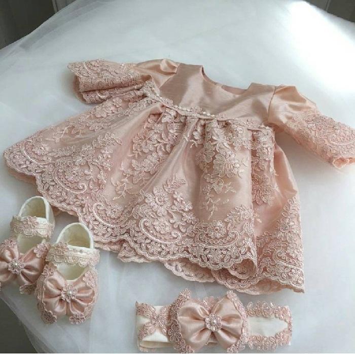 مدل لباس مجلسی گیپور و ساتن بچه گانه,پیراهن گیپور شیک,مدل لباس ساتن,لباس گیپور دخترانه نوزادی