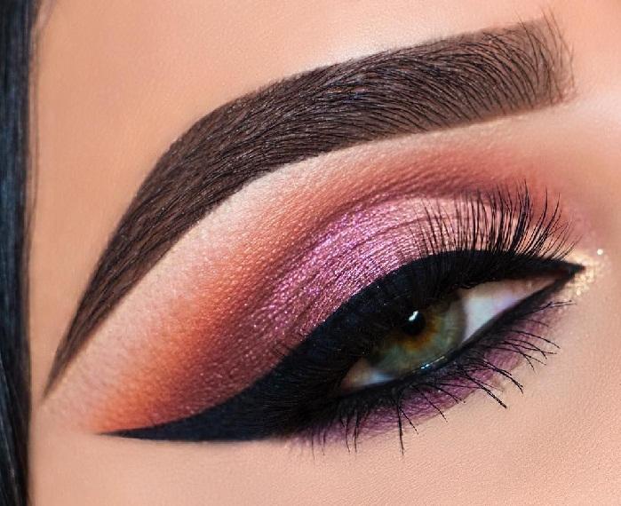 عکس های آرایش چشم زنانه,مدل آرایش چشم غلیظ,مدل ابرو اسپرت پهن و کشیده