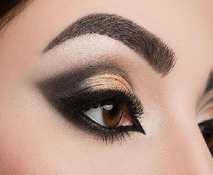 مدل جدید ابرو پهن و بلند,مدل ابرو هاشور,مدل آرایش چشم خلیجی,مدل سایه چشم زیبا
