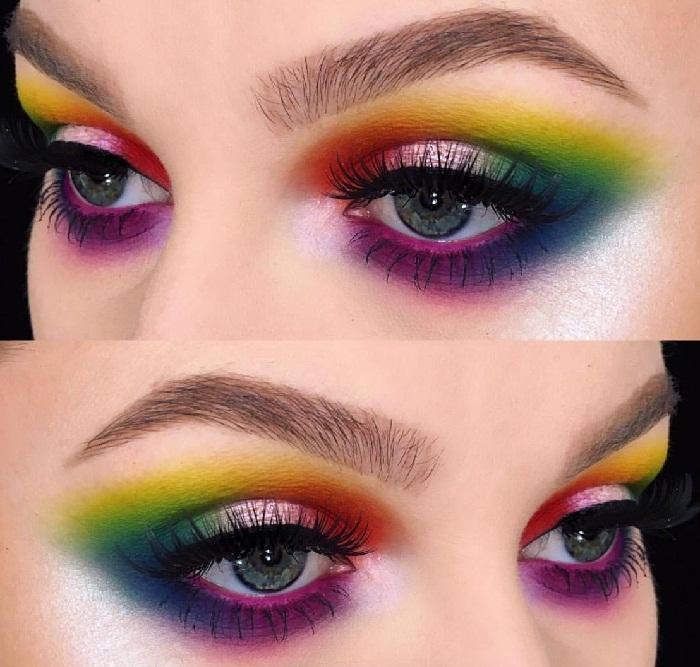 مدل ابرو دخترانه 2018,مدل ابرو شیطونی دخترانه,ارایش چشم و ابرو,آرایش چشم فانتزی