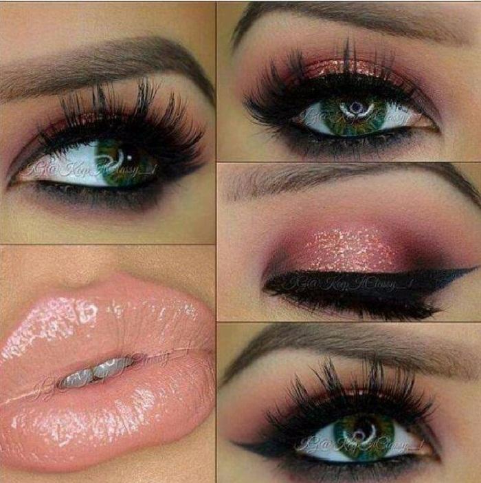 مدل آرایش چشم با سایه چشم,مدل ابرو پهن و صاف,مدل ابرو شیطونی پهن,مدل ابرو