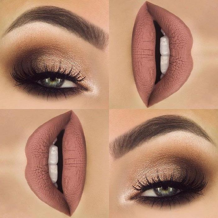 مدل آرایش چشم و لب زیبا و شیک,عکس جدید آرایش سایه چشم دخترانه,مدل جدید ابرو 97-2018
