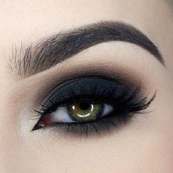 آرایش چشم مجلسی,مدل سایه چشم عروسکی,ابروی اسپرت,مدل ابروی پهن و صاف زنانه