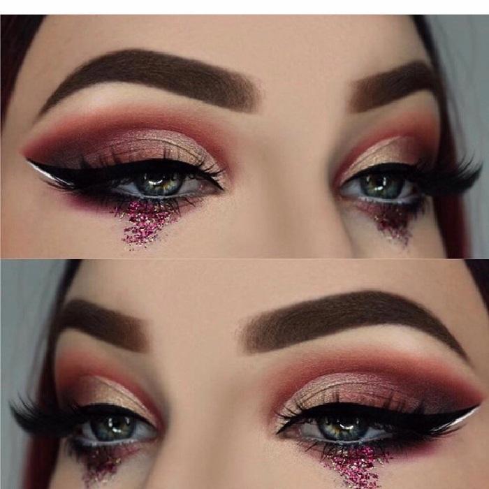 مدل خط چشم زیبا مجلسی زنانه جدید,سایه برای چشم درشت,مدل آرایش چشم و ابرو جدید