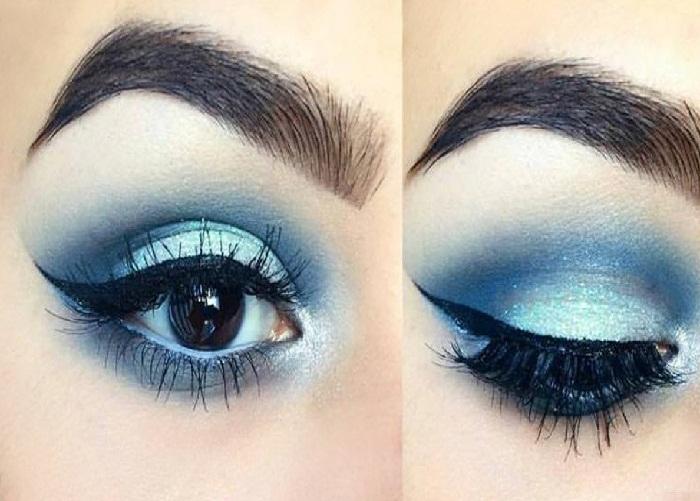 ابروی انحنا دار,مدل آرایش چشم دخترانه,ابروی هشتی,ابروی کمانی,مدل آرایش چشم زنانه