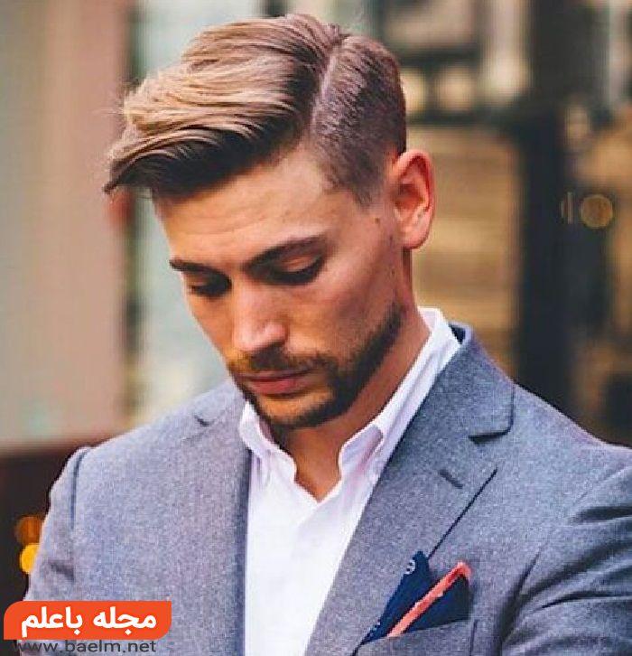 انواع مدل مو مردانه و پسرانه 97 – 2018,مدل کپ دور کات همراه با ته ریش,مدل مو
