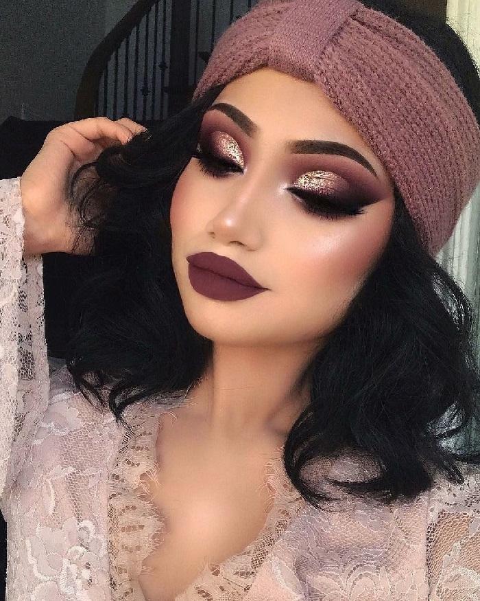 آرایش خلیجی صورت,مدل ابرو کشیده,آرایش صورت غلیظ,ارایش صورت ومو,میکاپ عروس 2018