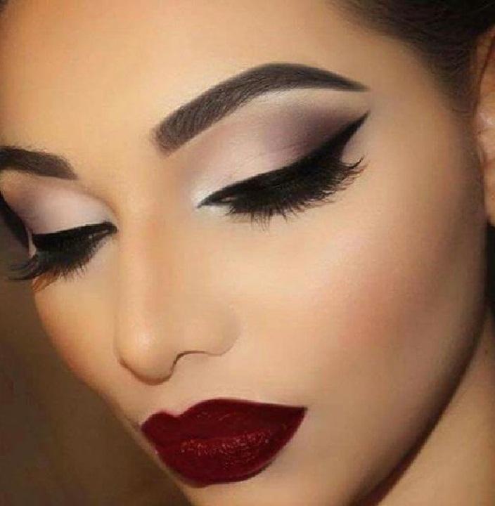 جدیدترین آرایش و میکاپ صورت و آرایش لب,رنگ سایه و رنگ رژ لب جذاب زنانه و مدل ابرو دخترانه