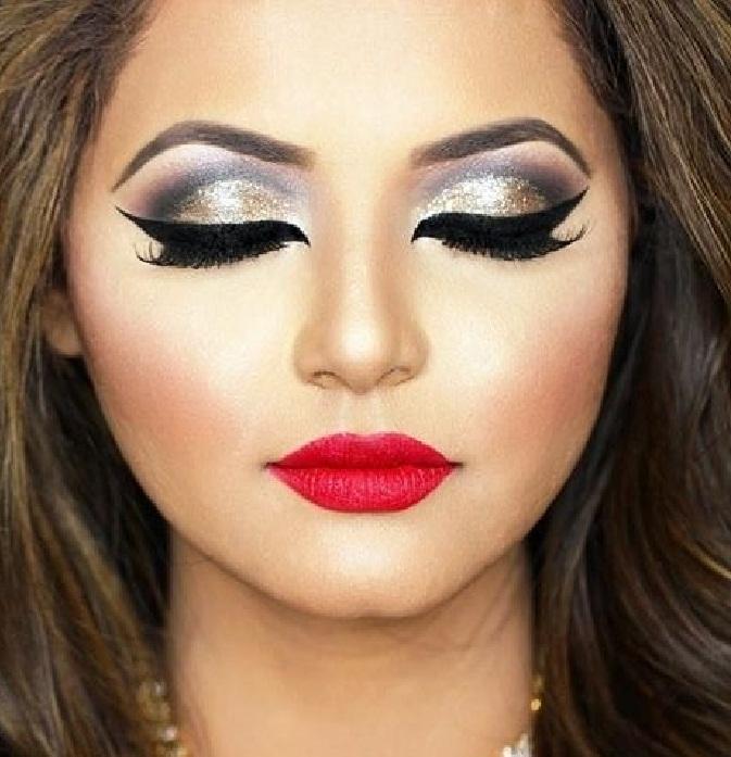 مدل آرایش و میکاپ جذاب صورت دخترانه,مدل ارایش جدید صورت,جدیدترین آرایش چشم,مدل آرایش لب