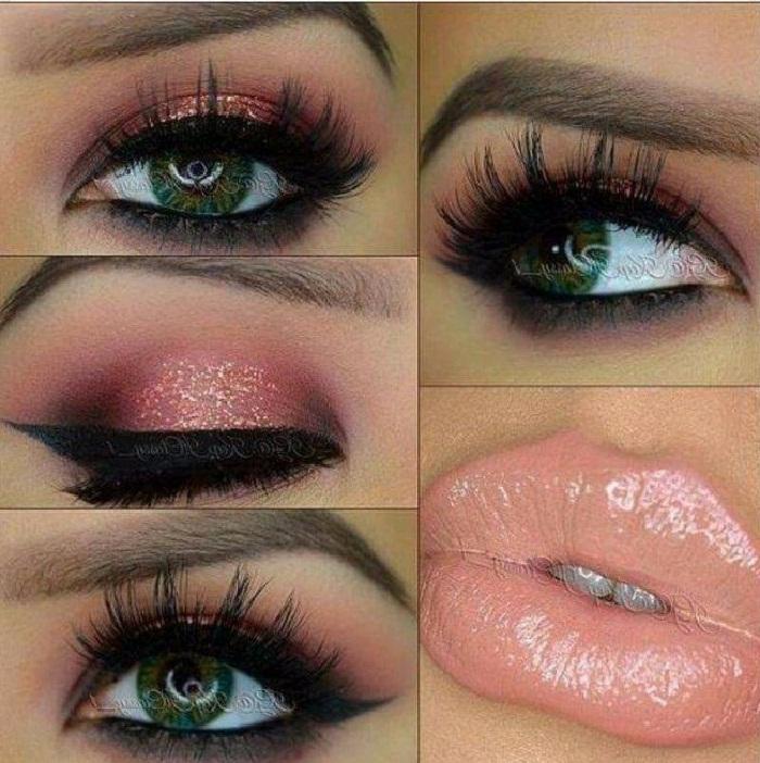 مدل آرایش صورت و آرایش لب,میکاپ صورت و آرایش چشم,آرایش عروس,مدل جدید آرایش شیک