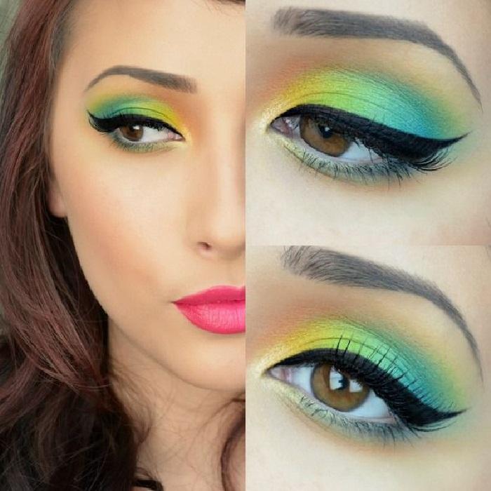 مدل آرایش صورت غلیظ دخترانه,میکاپ و آرایش فانتزی چشم,مدل های جدید آرایش جذاب صورت زنانه
