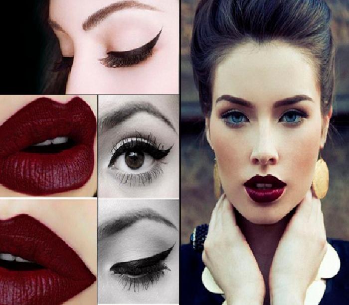 مدل آرایش صورت,جدیدترین مدل میکاپ صورت,مدل خط چشم,مدل ابرو و سایه چشم 2018