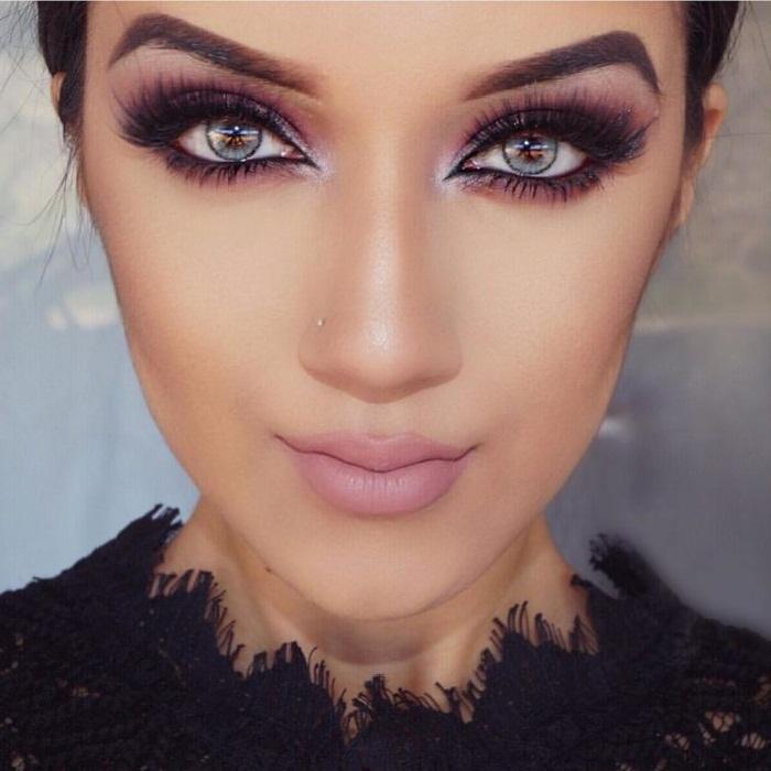 مدل آرایش شیک چشم و ابرو,جدیدترین مدل میکاپ صورت,مدل ابرو,زیباترین مدل آرایش 2018