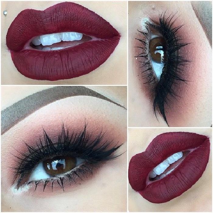 عکس و مدل آرایش هندی 2018,عکس از مدل میکاپ صورت دخترانه,آرایش چشم,آرایش لب,مدل ابرو