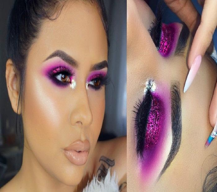 میکاپ صورت لاغر,مدل آرایش جذاب,میکاپ صورت و مدل آرایش خلیجی,مدل آرایش جدید لایت