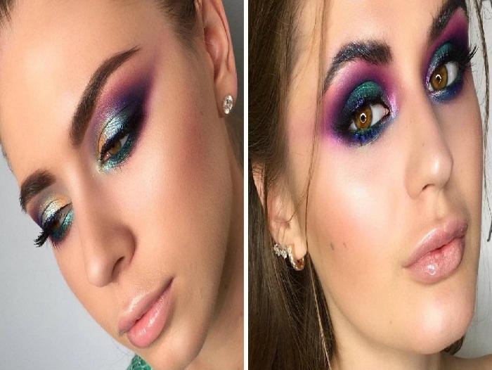 آرایش خلیجی و غلیظ چشم,مدل میکاپ شیک صورت و آرایش چشم و آرایش ابرو,آرایش جدید زنانه