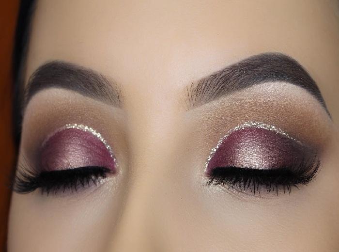 آرایش زیبای لایت برای پوست های گندمی,آرایش چشم و مدل ابرو,گالری تصاویر آرایش صورت زنانه
