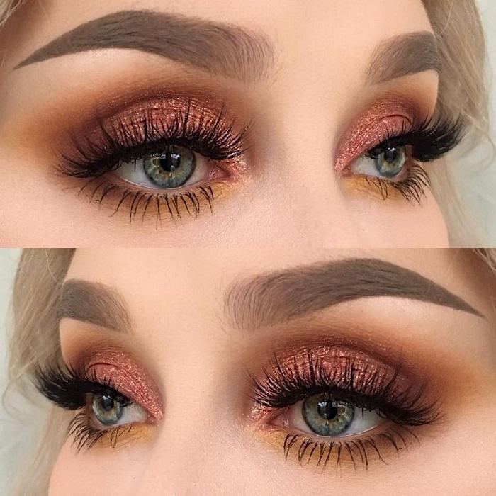 جدید ترین مدل آرایش جذاب چشم,جدیدترین و زیباترین مدل میکاپ صورت,مدل ابرو و رنگ مو