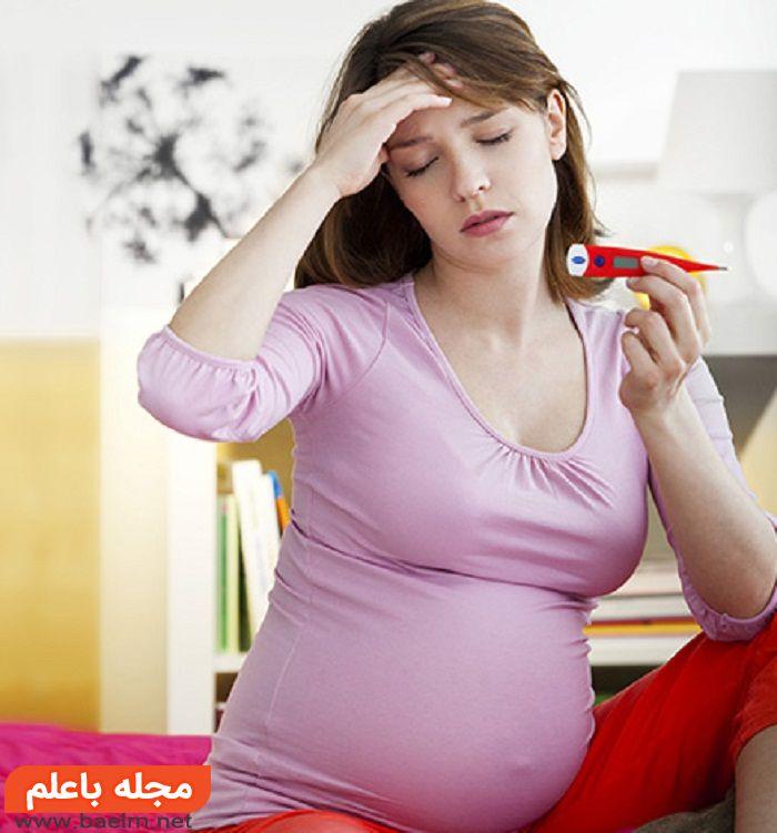علائم متداول تب یا لرز بارداری,درمان تب و لرز دوران حاملگی,دلیل تب و لرز در بارداری