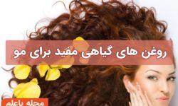 روغن های گیاهی مفید برای مو - خواص و فواید مصرف