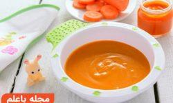 غذای کمکی نوزاد 6 ماهه+طرز تهیه پوره سبزیجات+غذای کودک (6 ماهگی)