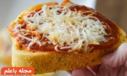 """طرز تهیه نان سیر با پنیر+""""نان تست"""" سیر دار پیش غذای ایتالیایی"""