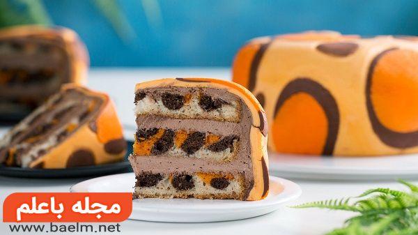 طرز تهیه كيک پلنگى,دستور پخت کیک پلنگی 2